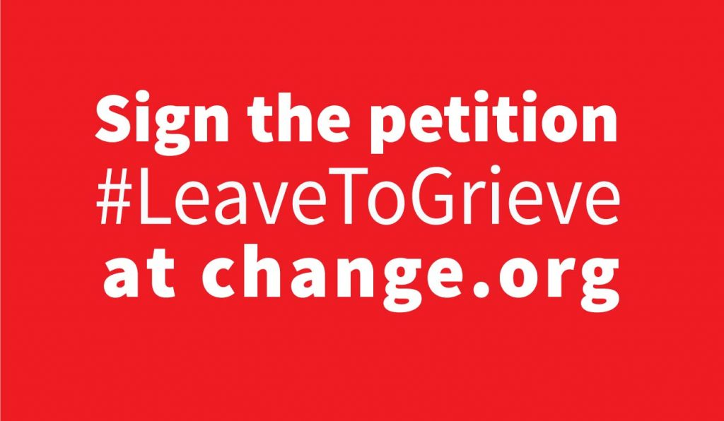 sign the #leavetogrieve petition at change.org
